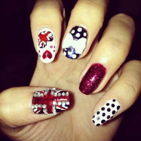 Best of British Union Jack Nail Art Design