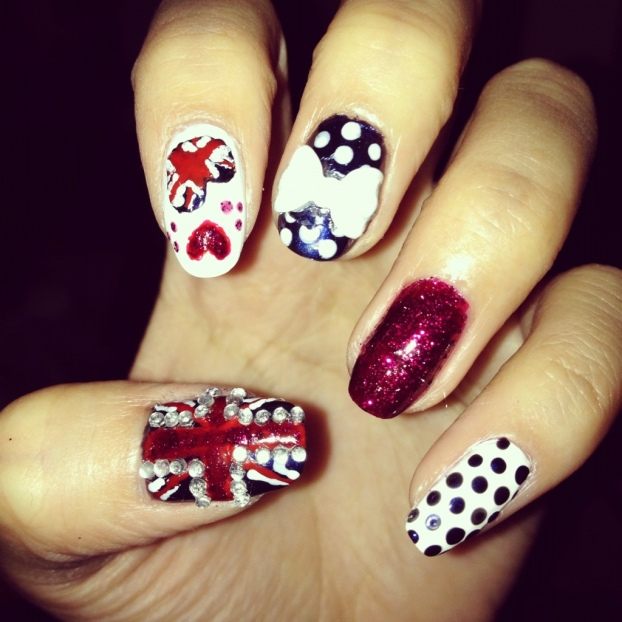 Best of British: Union Jack Nails