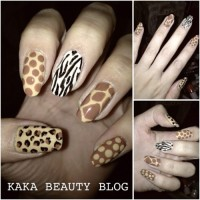 Welcome back with Nail art Frenzy! Animal Print Nails with Top Shop Nail Polish