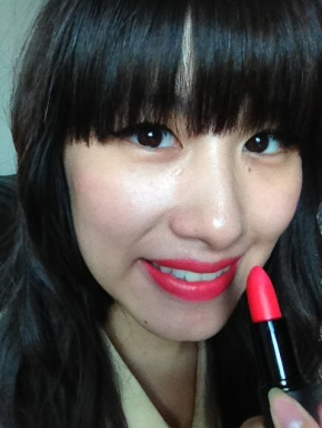 Sleek True Colour Matte Lipstick Swatch. Perfect shade to brighten up any outfit:)