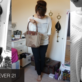 OOTD POST FEAT. FOREVER21. Nothings ever Black n White…
