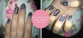ARTSY WEDNESDAY:  MUSIC INSPIRED NAILS