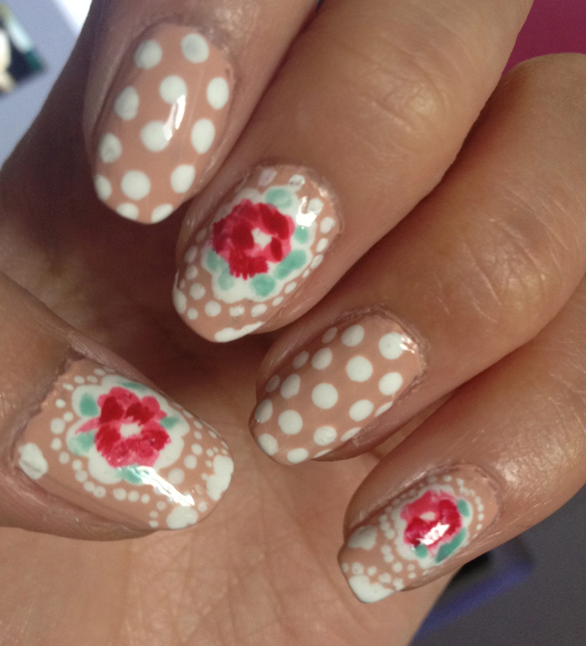 Nail Arts By Rozemist Cath Kidston Vintage Inspired: ARTSY WEDNESDAY: PRINT/ PATTERN INSPIRED NAILS