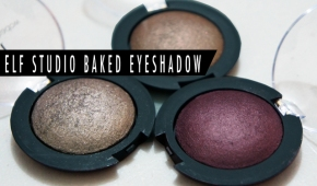 elf Baked Eyeshadow Swatches