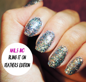 NAILS INC BLING IT ON FEATHERS REVIEW