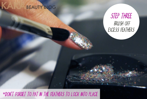 Nails inc Bling it on Feathers