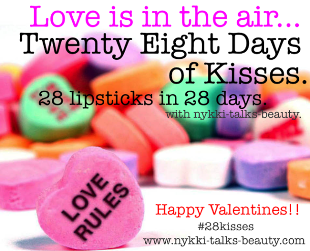 #28kisses Lipstick Tag
