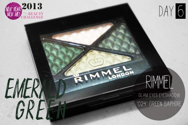 SONY Rimmel Glam Eyes Eyeshadow Quad in 024 Green Saphire