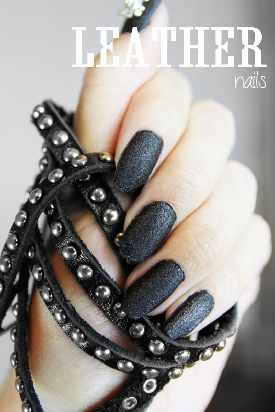 Nails inc Leather effect nails