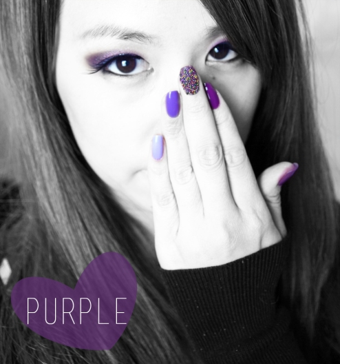 Purple Makeup and nails
