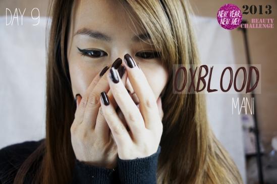 Oxblood Manicure