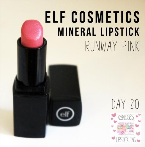 elf mineral lipstick in Runway Pink