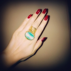 NOTD: RED/TURQUOISE AND GOLD COMBO