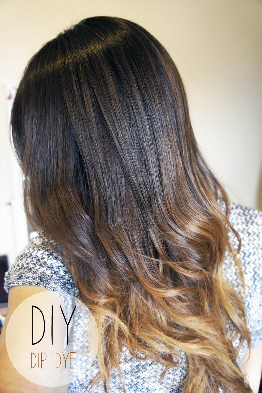 Dip Dyeing Natural Black Hair
