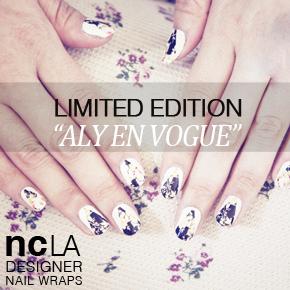 NCLA DESIGNER NAIL WRAPS 'ALY EN VOGUE'*