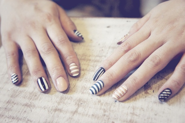 NOTD: Stripey Nail Art
