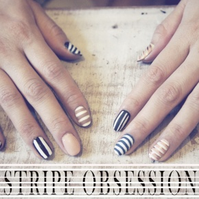 NOTD: NAUTICAL STRIPES NAIL ART