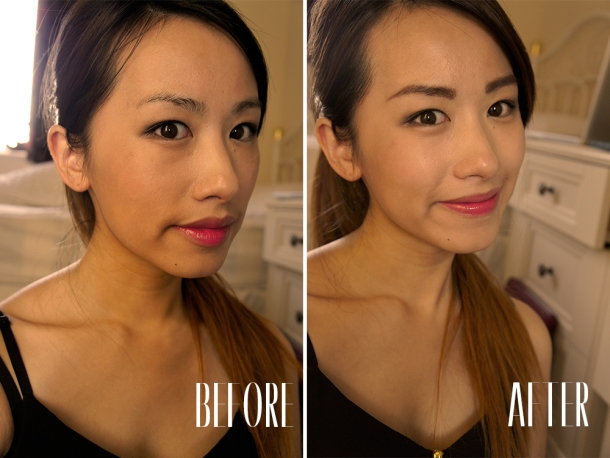 SKIN FOOD BLACK BEAN EYE BROW PENCIL BEFORE & AFTER