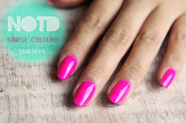 SINFUL COLOURS NAIL POLISH IN DARE DEVIL NOTD, REVIEW AND SWATCHES