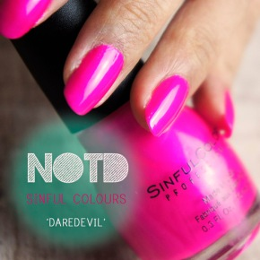 NOTD: SINFUL COLOURS 'DAREDEVIL' REVIEW AND SWATCH POST