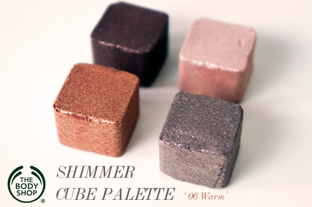 THE BODY SHOP SHIMMER CUBE IN WARM REVIEW & SWATCH