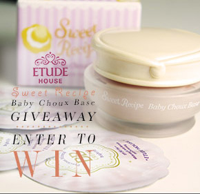 GIVEAWAY: CHANCE TO WIN ETUDE HOUSE SWEET RECIPE BABY CHOUX BASE![ENDED]