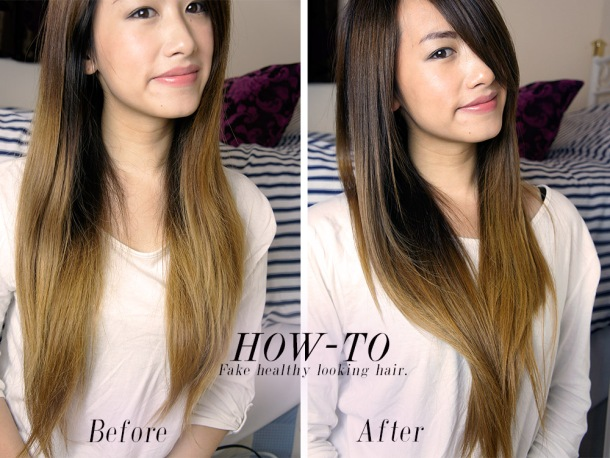 How to fake healthier looking hair before and after photos