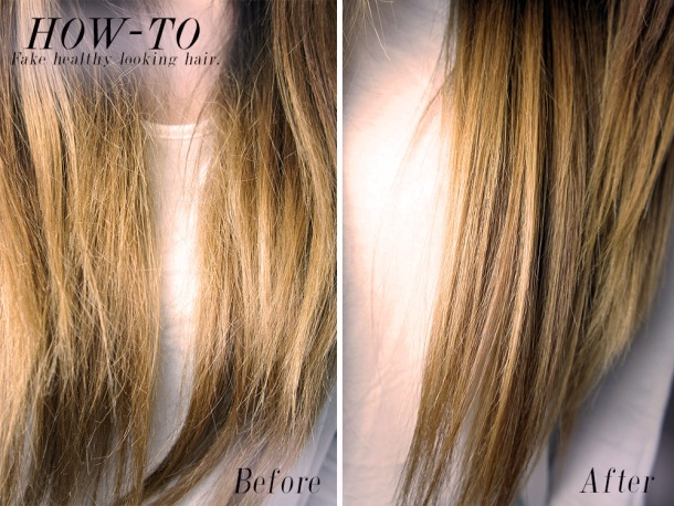 How to fake healthier looking hair before and after