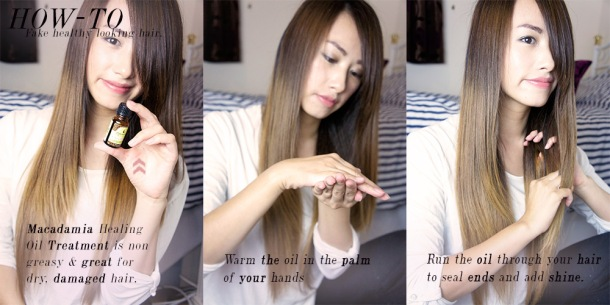 Tips and tricks on How to fake healthier looking hair with macadamia healing treatment oil