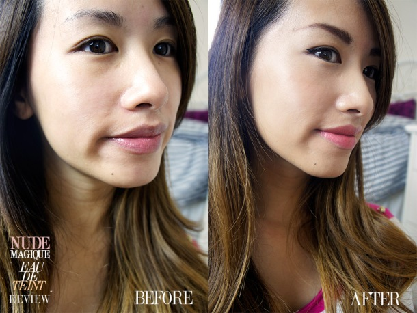 LOREAL EAU DE TEINT NUDE MAGIQUE FOUNDATION BEFORE AND AFTER