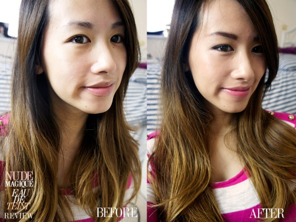 LOREAL EAU DE TEINT NUDE MAGIQUE FOUNDATION REVIEW BEFORE & AFTER