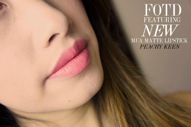 FOTD: MUA MATTE  LIPSTICK REVIEW