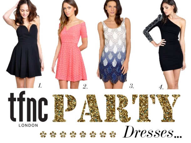 TFNC LONDON PARTY DRESSES