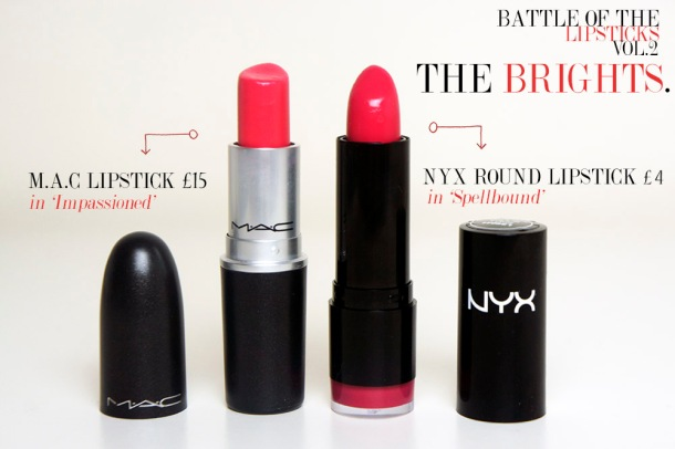 High end vs High Street lipsticks