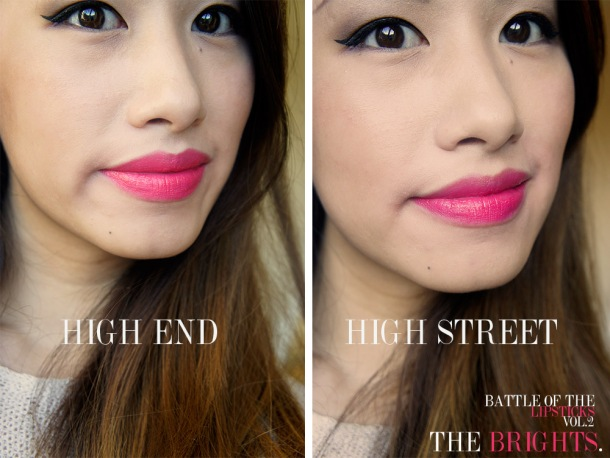 BEST HIGH STREET AND HIGH END PINK LIPSTICKS