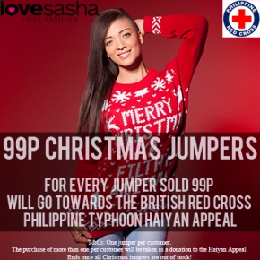 Love Sasha 99p Christmas Jumper Campaign