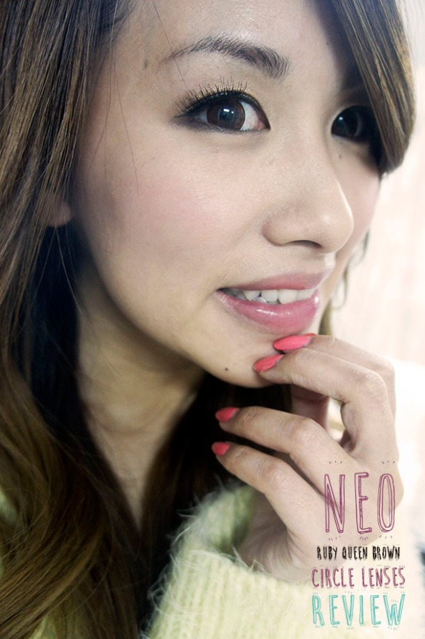 NEO RUBY QUEEN BROWN CIRCLE LENSES RESULTS