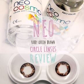 Bigger, browner eyes: NEO Ruby Queen Circle Lenses Review