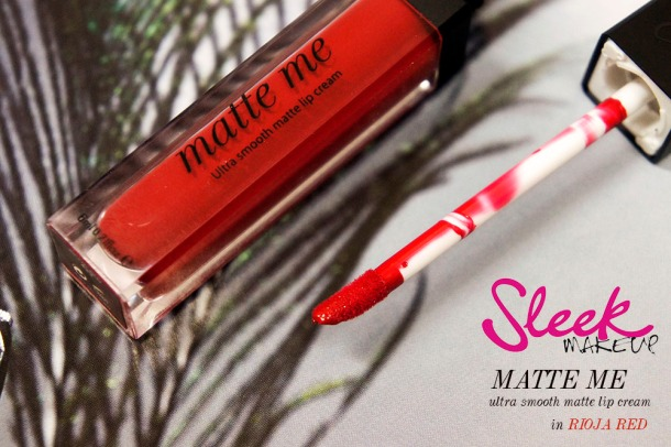 Sleek Matte Me Lip cream in rioja red review