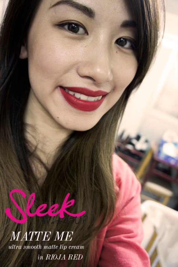 Sleek Matte Me Lip cream in rioja red swatch