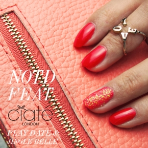 CORAL NOTD FEAT. CIATE NAIL POLISH IN PLAY DATE & JINGLE BELLE