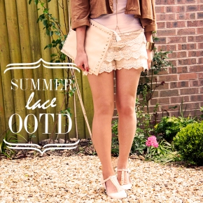 OOTD: SUMMER/LACE SHORTS OUTFIT